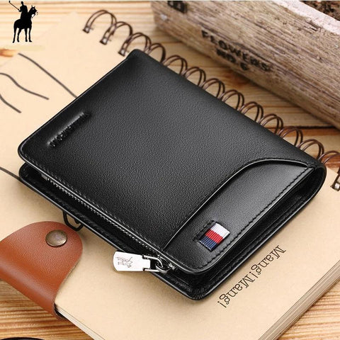 Men's Genuine Leather Zipper Wallet