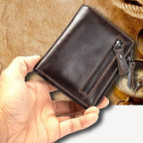 Men's Genuine Leather Zip-Closure Wallet