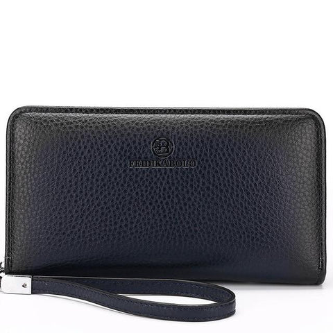 Luxury Male Leather Purse Men's Clutch Wallets Handy Bags Business Wallets Men Black Brown