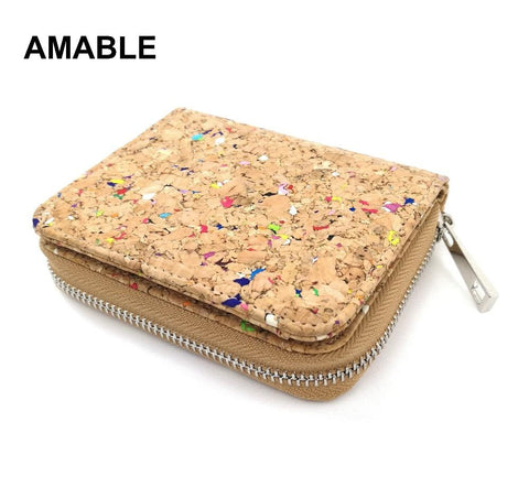 2019 Rustic Cork Card Wallet Short Wallet