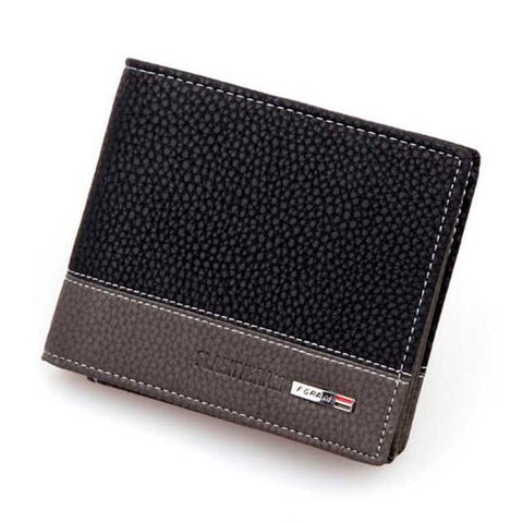 PU Leather Bifold Slim Wallet