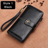 Clutch Leather Female Wallet