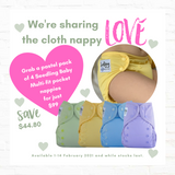 """Share the Love"" 4 pack of Seedling Baby Nappies"