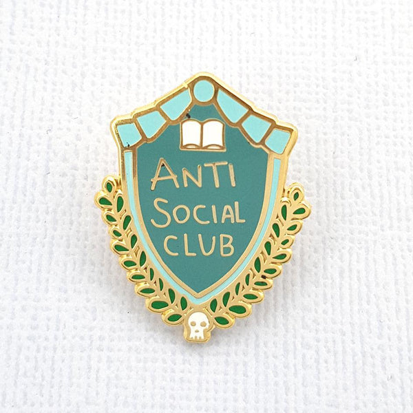 """Anti Social Club"" Lapel Pin"