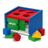 Micki Classic Wooden Sorting Box With Doors