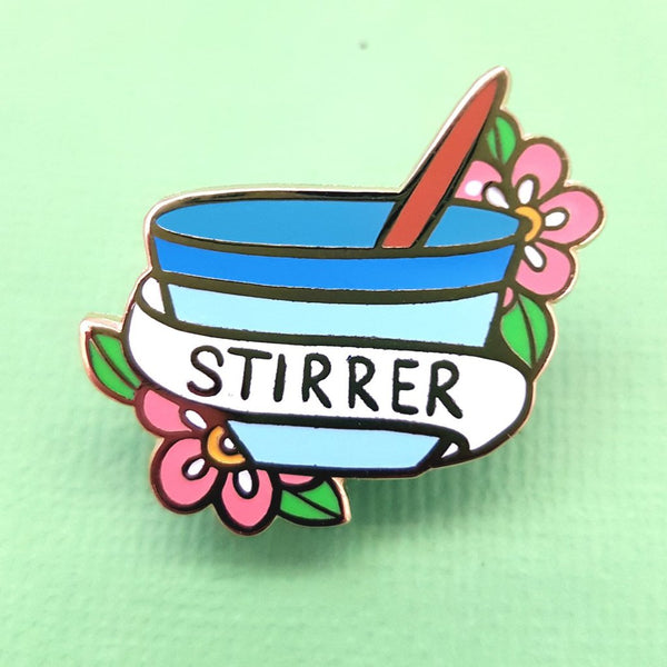 """Stirrer"" Lapel Pin"
