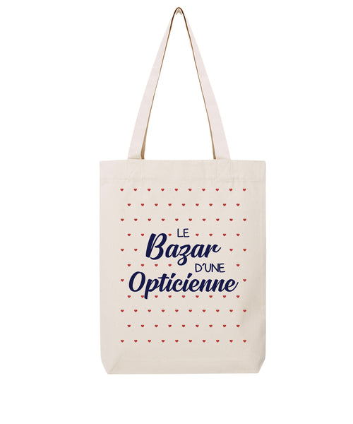 Tote bag Bazar coeur Opticienne - Comptoir des Ergos