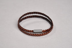 Zensai Braided Double Leather Bracelet
