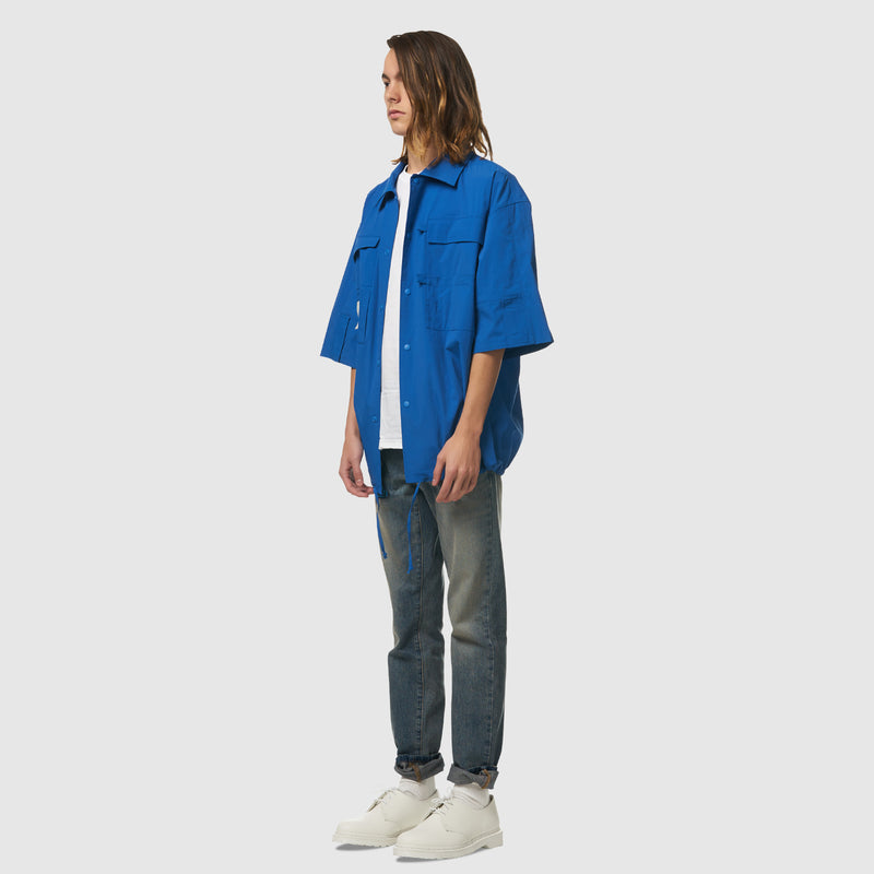 6 Pocket Worker's Shirt in Blue