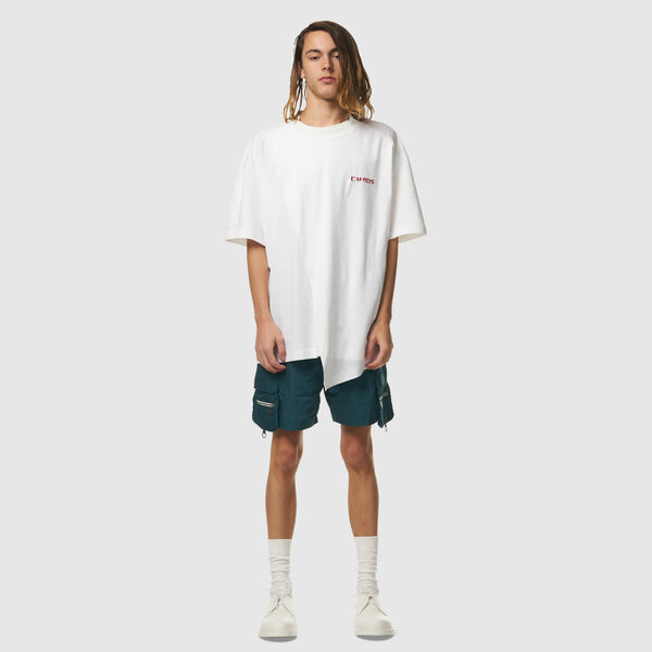 Chaos is King Oversized Tee in White