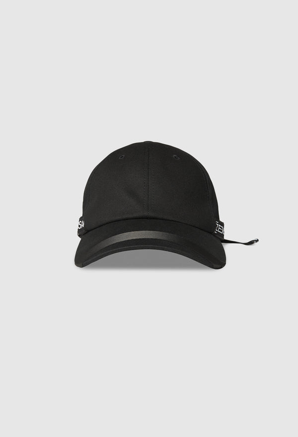 Cypher Patched Cap in Jet Black