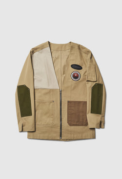 Kimono Canvas Work Jacket in Tan