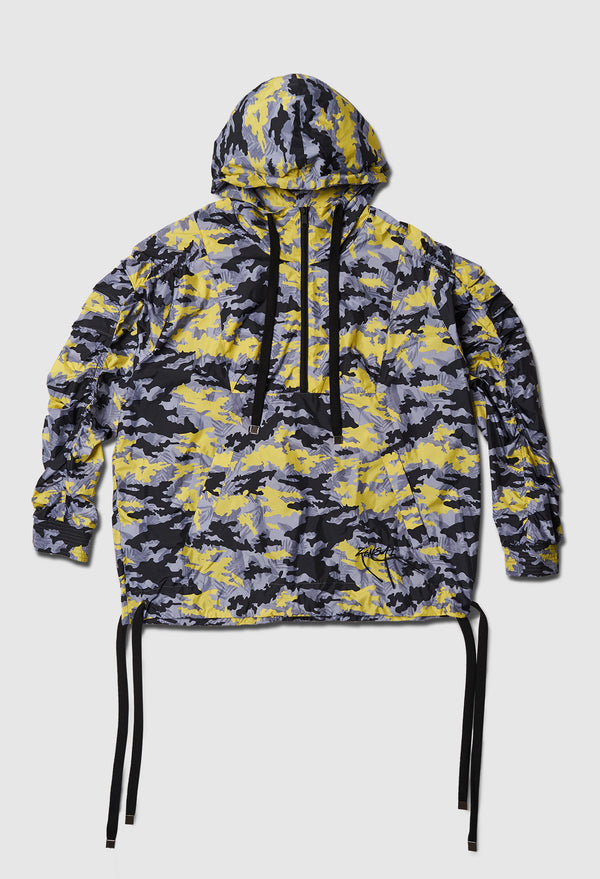 Yellow Camo Cyclone Windbreaker