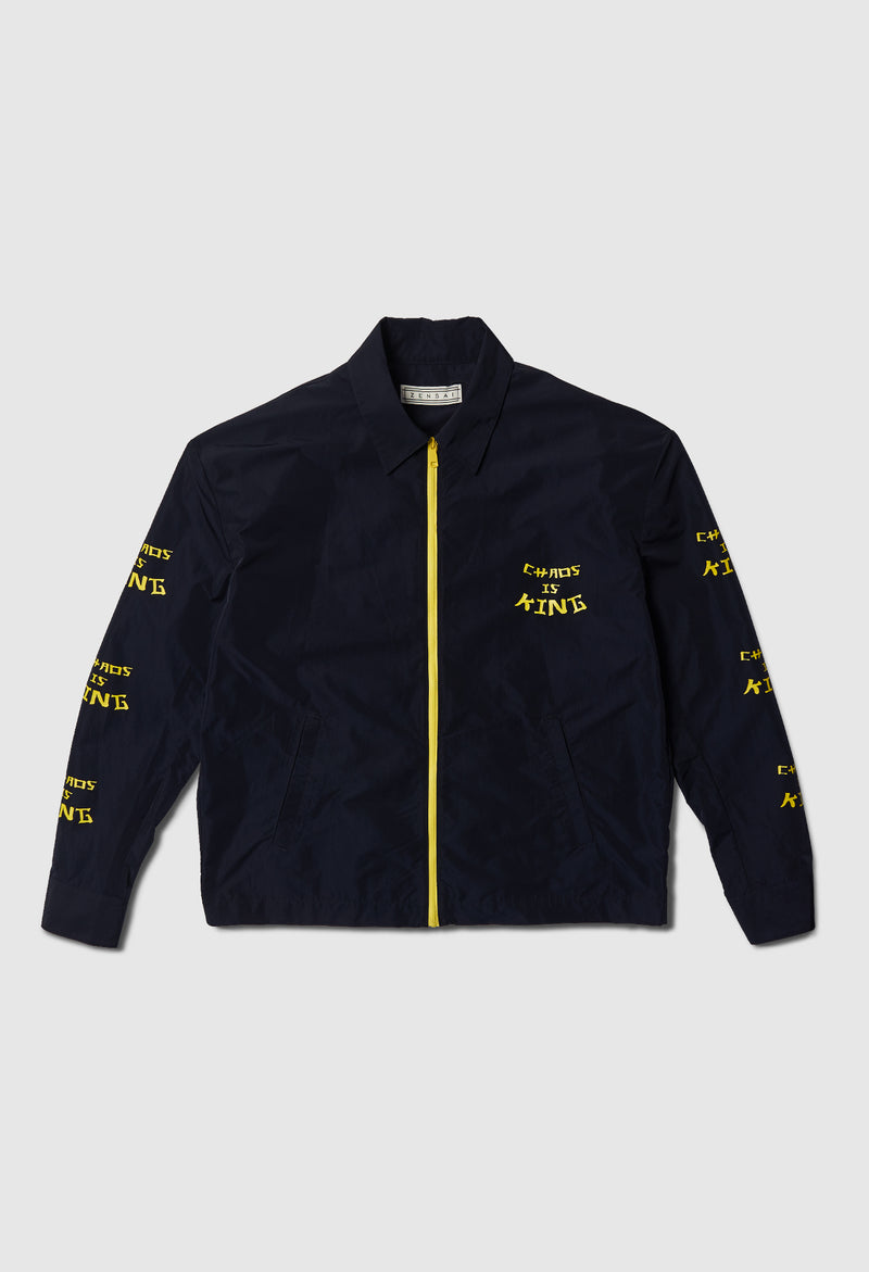 Chaos is King Work Jacket in Navy