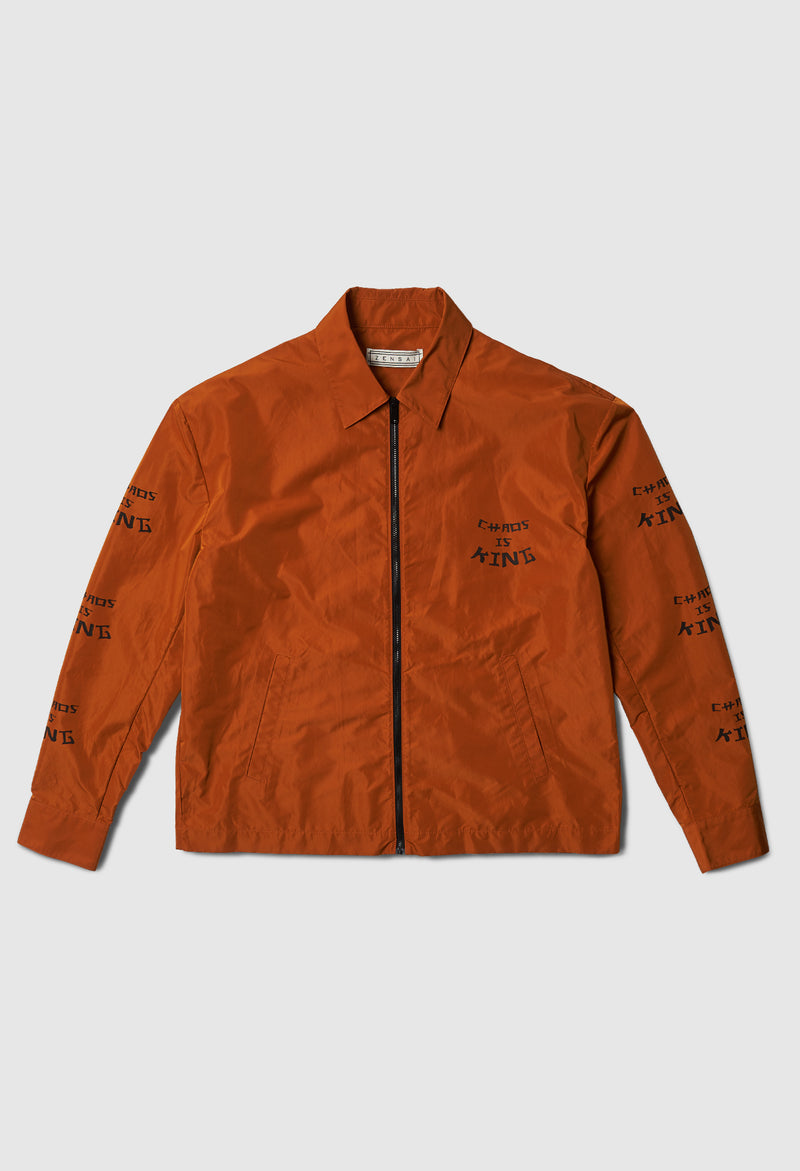 Chaos is King Work Jacket in Orange
