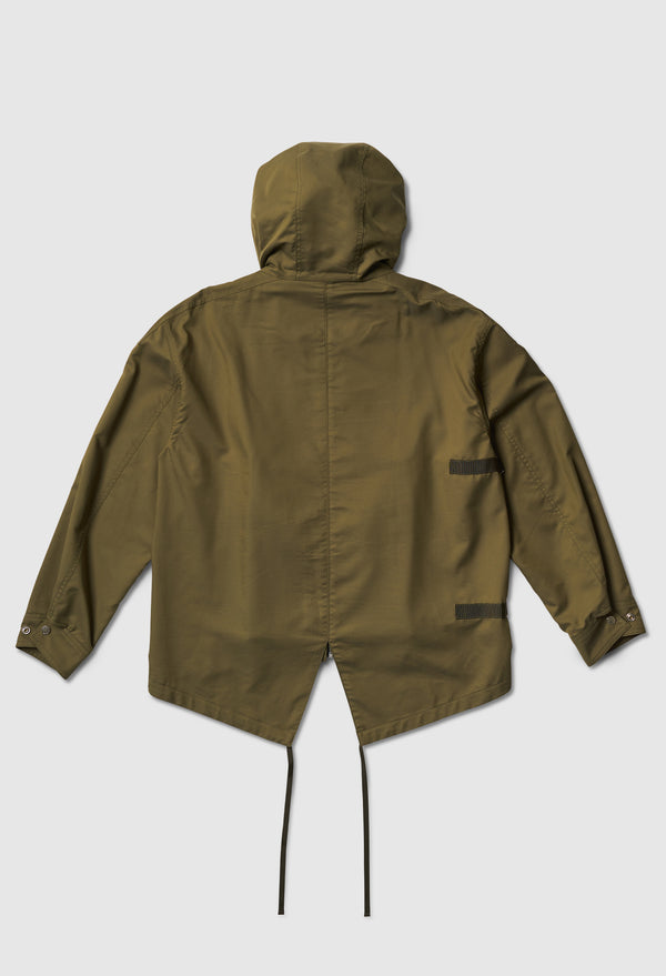Anti-Apocalypse Strapped Anorak in Army Green