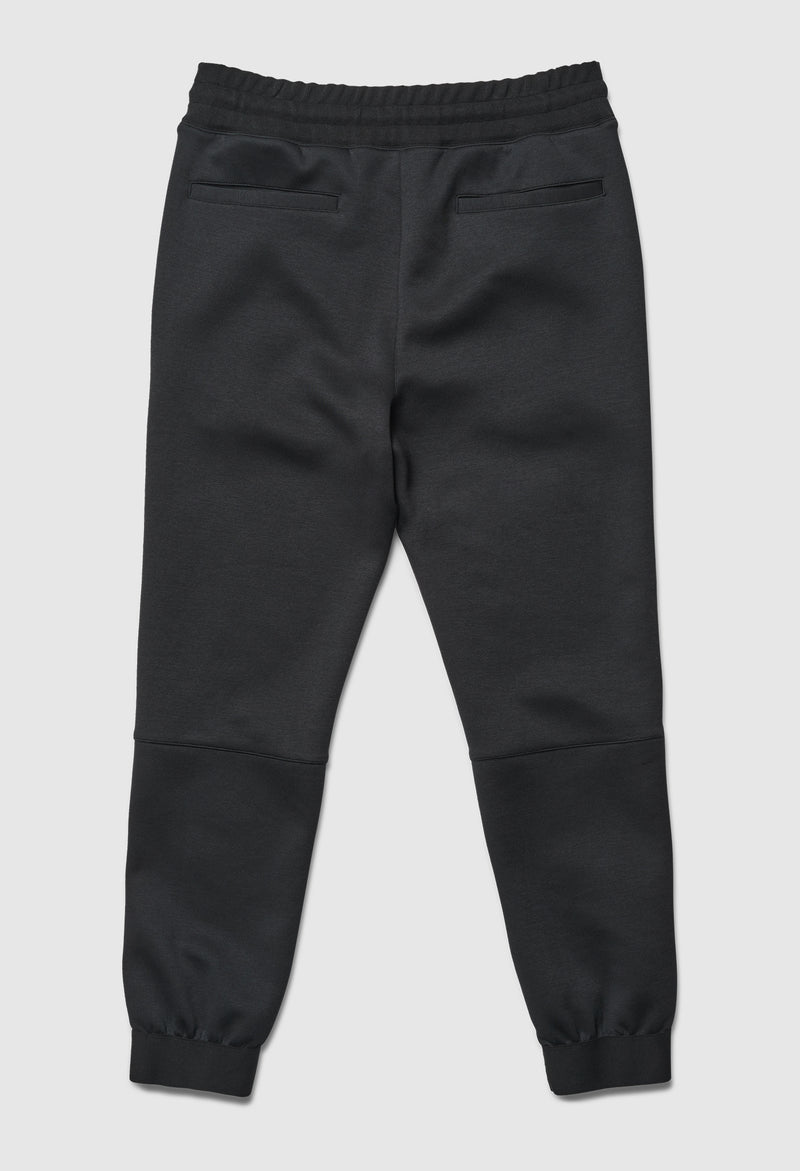 Double Logo Slim Black Jogger