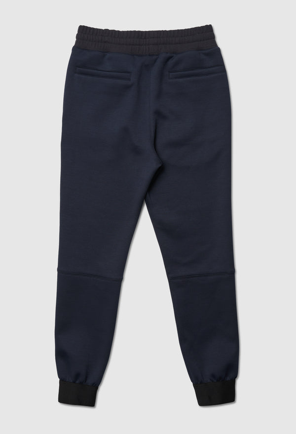 Double Logo Slim Blue Jogger