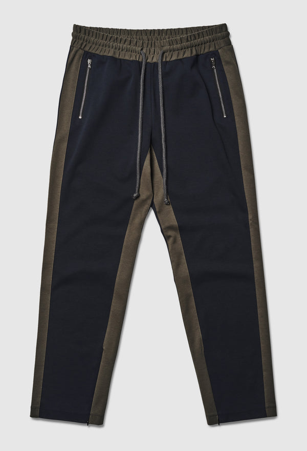 Dark Olive Striped Jogging Pant