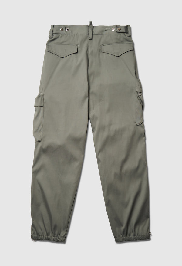 Cargo Ankle Zip Pant in Green