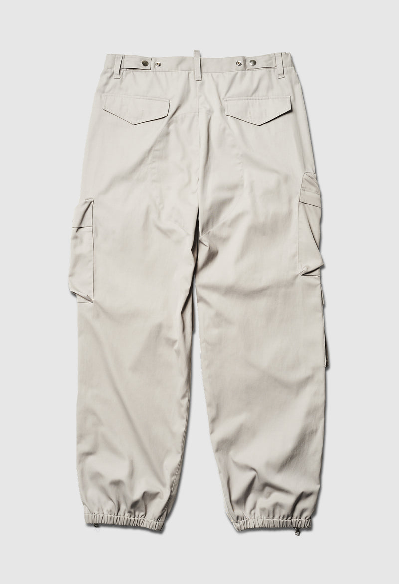 Cargo Ankle Zip Pant in Light Grey