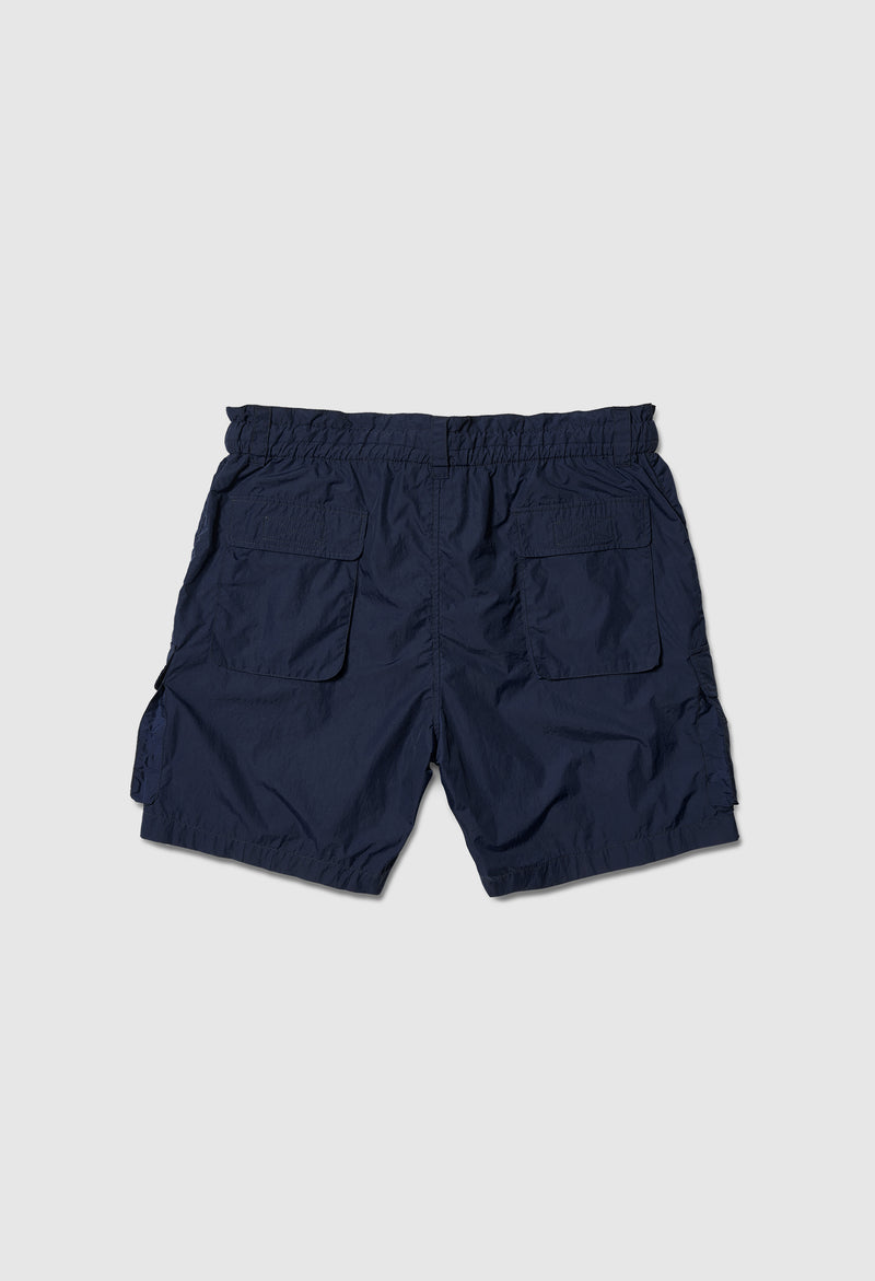 Time Traveler Parachute Shorts in Navy