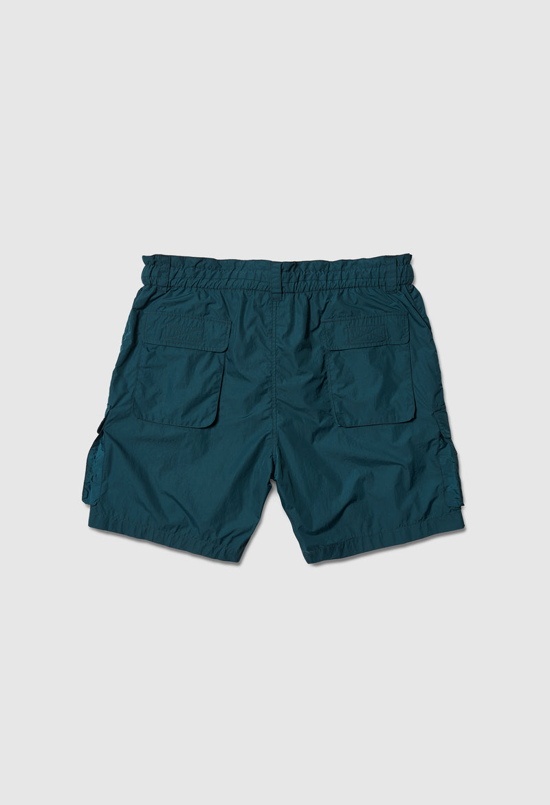 Time Traveler Parachute Shorts in Pine