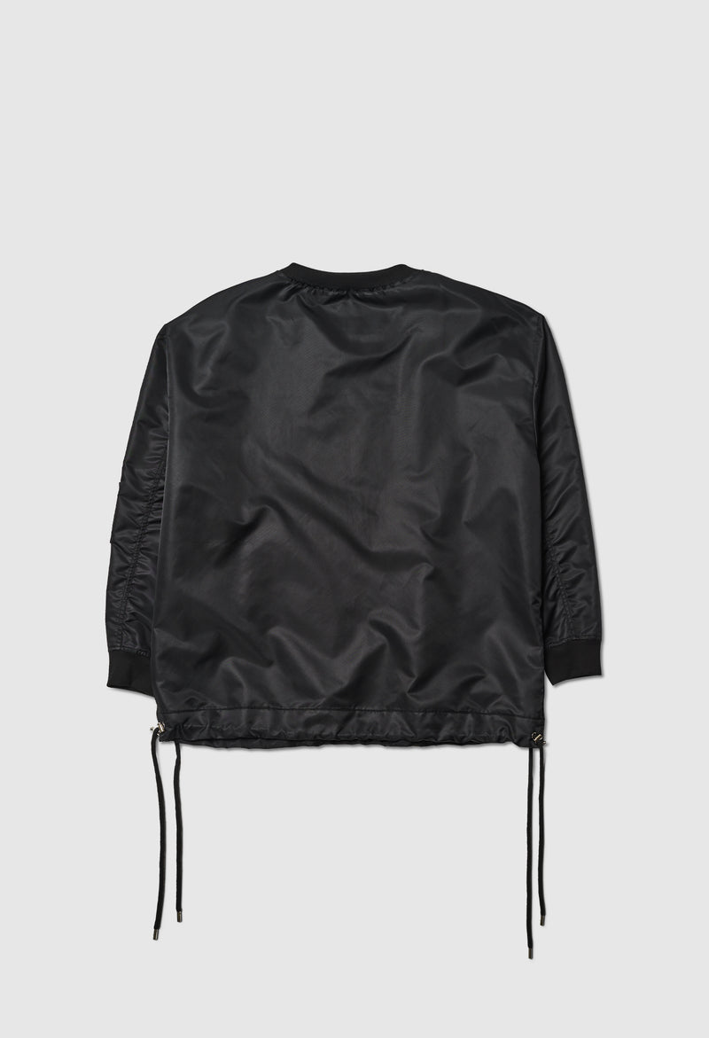 Oversized Zip Pullover in Black