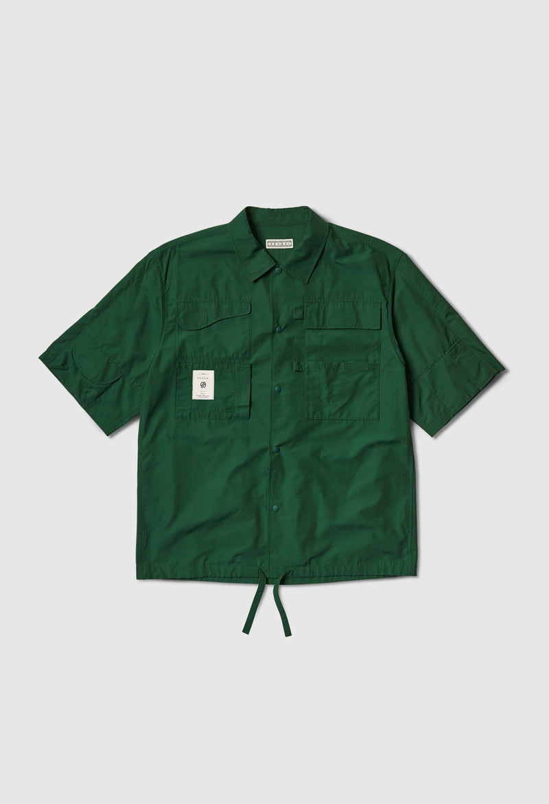 6 Pocket Worker's Shirt in Green