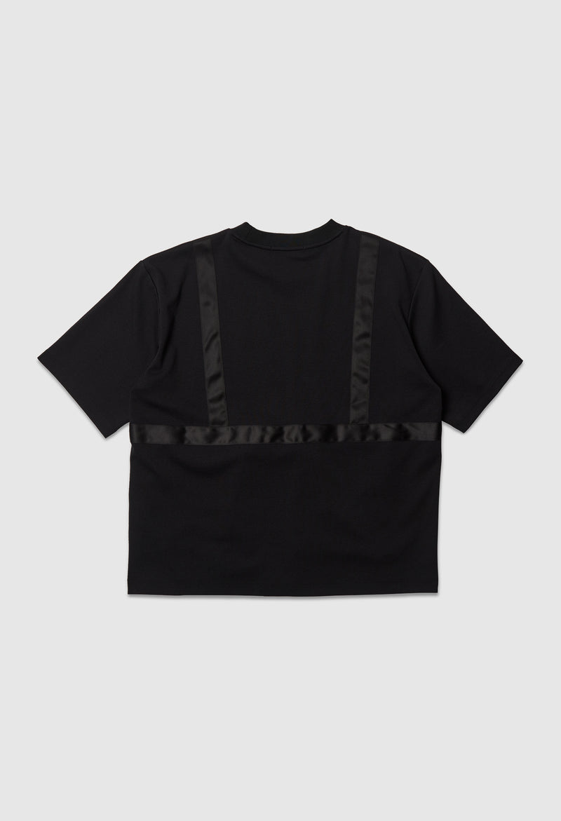 Double Pocket Tee in Black