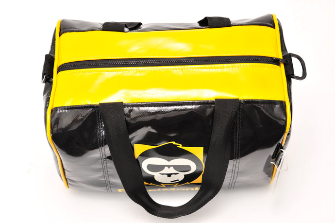 RebelMonkey YellowOnBlack Vintage Duffle Bag