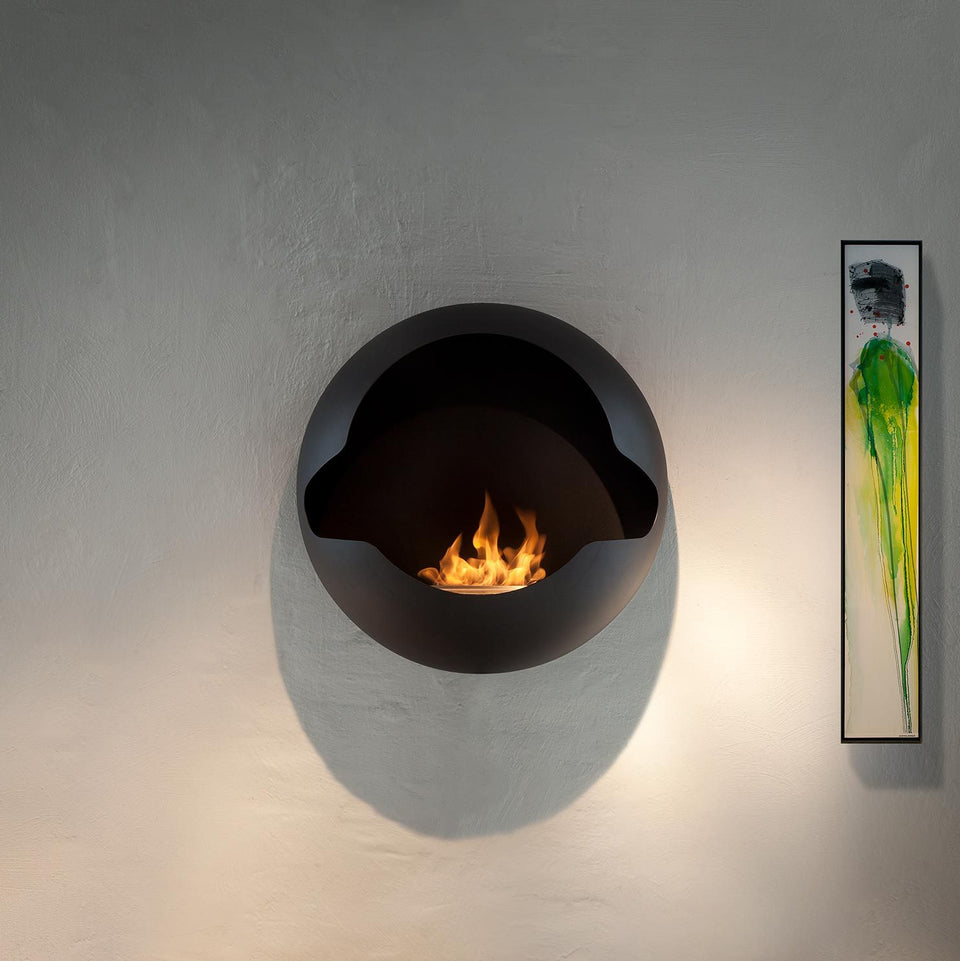 Wallmounted fireplaces