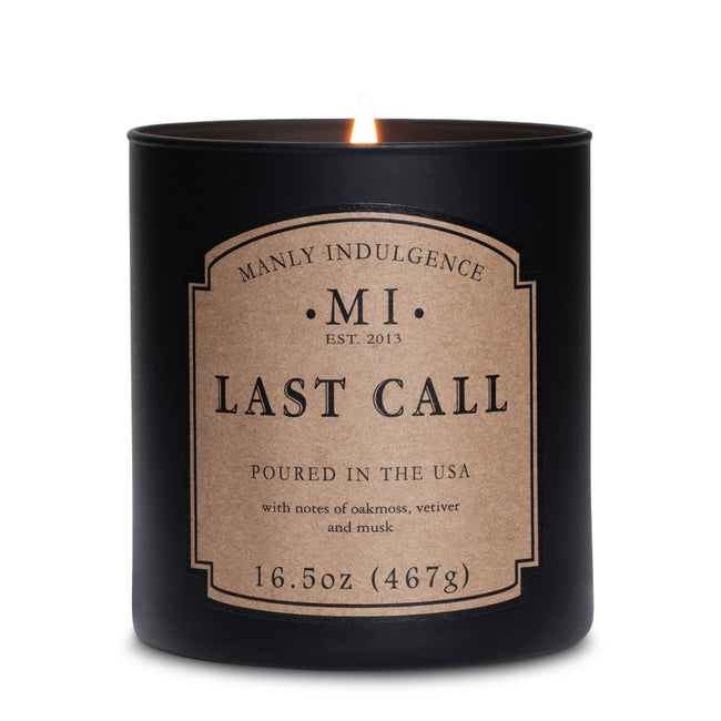 Manly Indulgence Scented Jar Candle, Classic, Last Call, 16.5 Oz, Single Single
