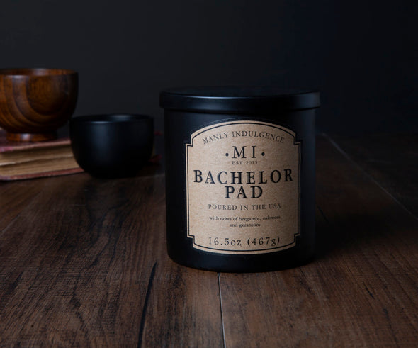 Bachelor Pad - 16.5 oz, Scented Jar Candle