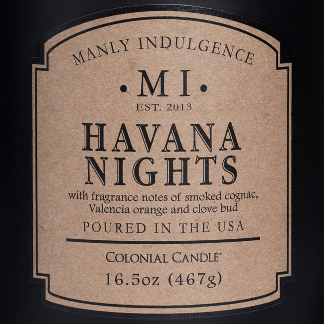 Manly Indulgence Scented Jar Candle, Classic, Havana Nights, 16.5 Oz, Single Single