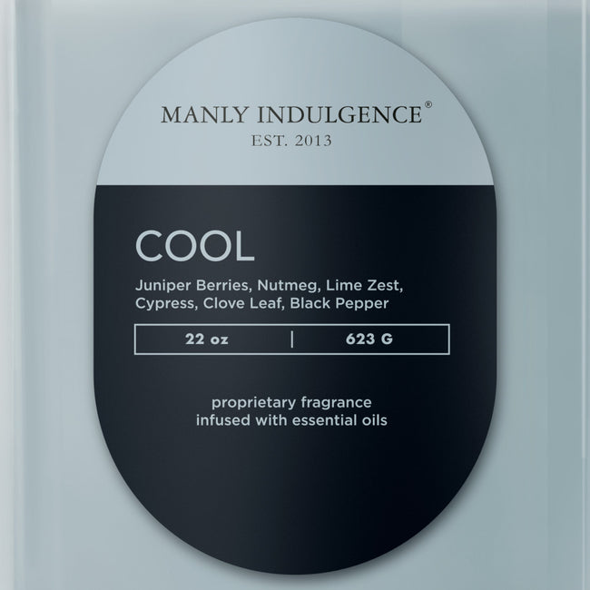 Manly Indulgence Scented Jar Candle, Contemporary,  Cool, 22Oz,  Single