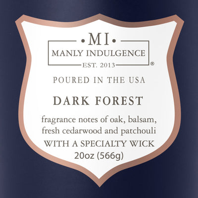 Manly Indulgence Scented Jar Candle, Signature Collection, Dark Forest, 20Oz,  Single