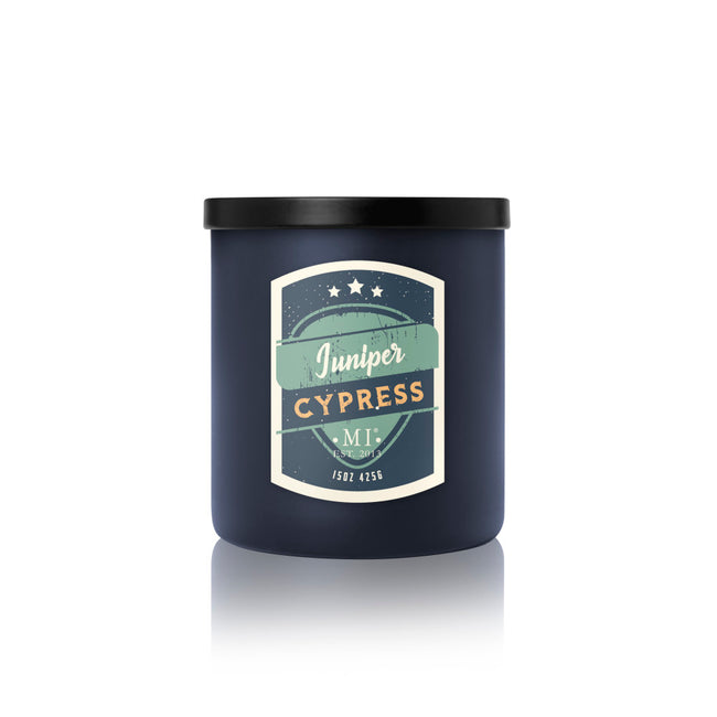 Manly Indulgence Scented Jar Candle, All American, Juniper Cypress, 15Oz,  Single