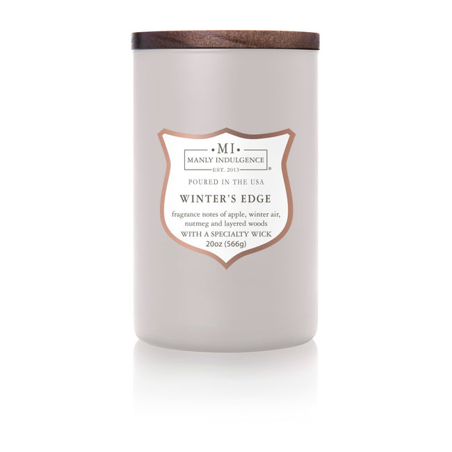 Manly Indulgence Scented Jar Candle, Signature Collection, Winters Edge, 20Oz,  Single