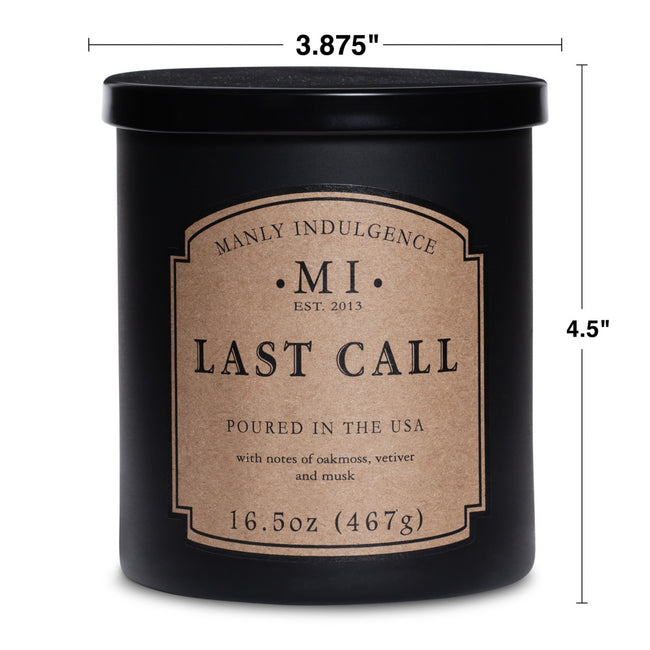 Manly Indulgence Scented Jar Candle, Classic Collection - Last Call, 16.5 oz - Single