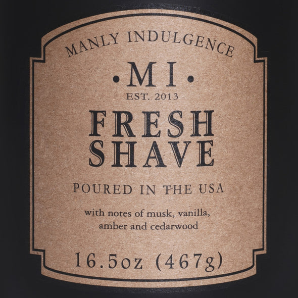 Manly Indulgence Scented Jar Candle, Classic Collection - Fresh Shave, 16.5 oz - Single