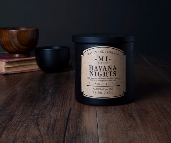 Havana Nights - 16.5 oz, Scented Jar Candle