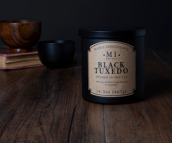 Black Tuxedo - 16.5 oz, Scented Jar Candle