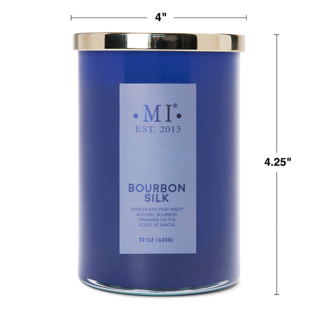 Manly Indulgence Scented Jar Candle, Sophisticated, Bourbon Silk, 22Oz,  Single