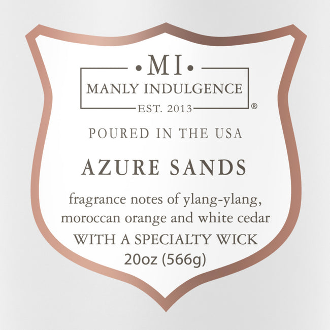 Manly Indulgence Scented Jar Candle, Signature Collection, Azure Sands, 20Oz,  Single