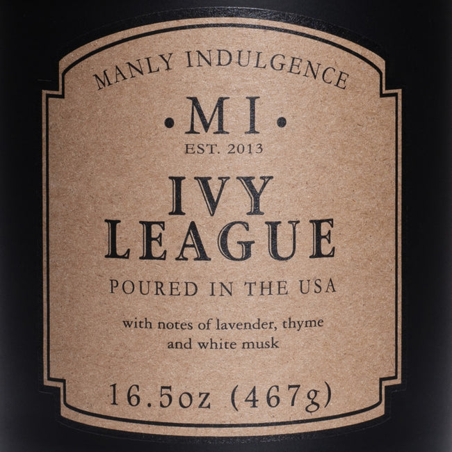 Manly Indulgence Scented Jar Candle, Classic Collection - Ivy League, 16.5 oz - Single