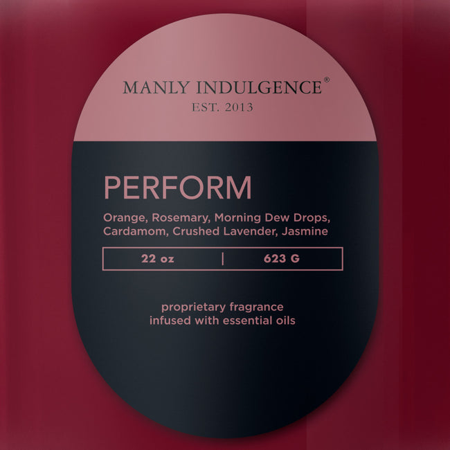Manly Indulgence Scented Jar Candle, Contemporary,  Perform, 22Oz,  Single