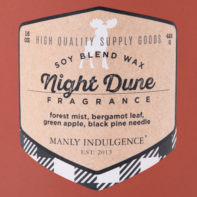 Manly Indulgence Scented Jar Candle, Adventure Collection, Night Dune, 15Oz,  Single