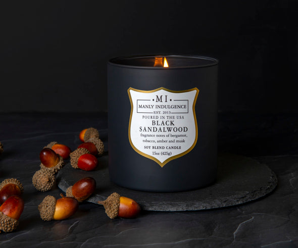 Black Sandalwood - 15 oz, Scented Jar Candle