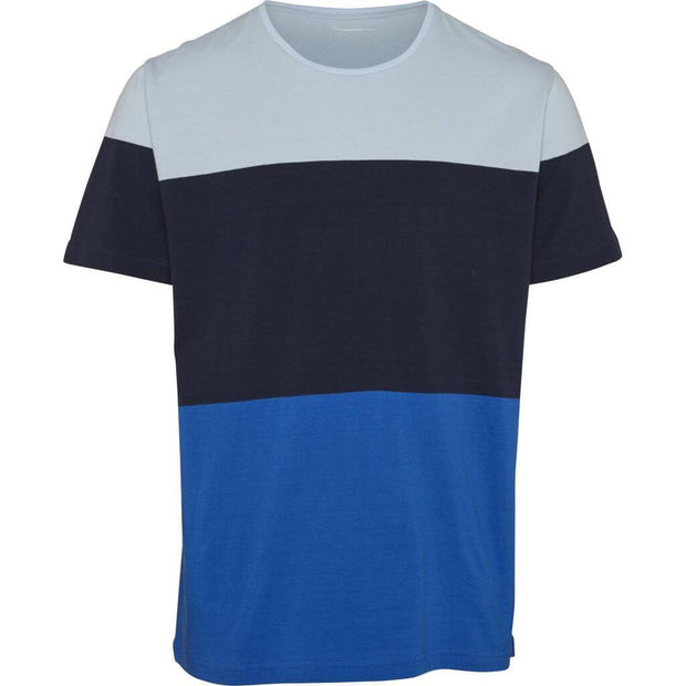 T-Shirt en Coton Bio homme KnowledgeCotton Apparel Multi Bleu - Echoppe Sauvage